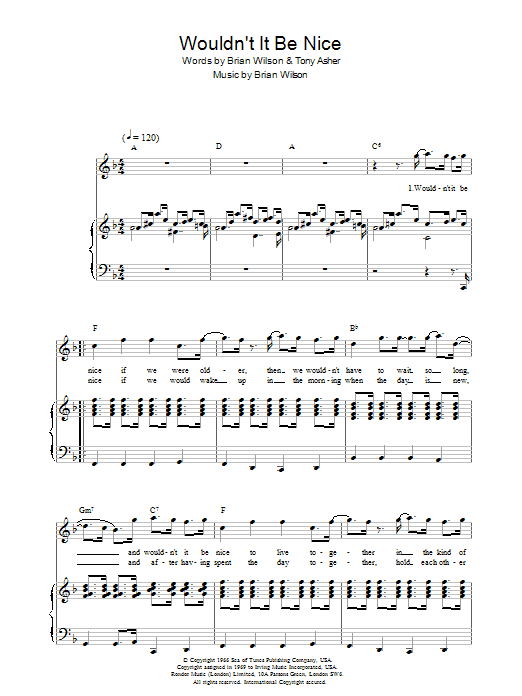 Wouldn't It Be Nice Sheet Music