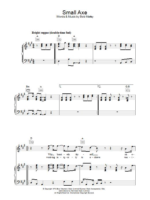 Small Axe Sheet Music