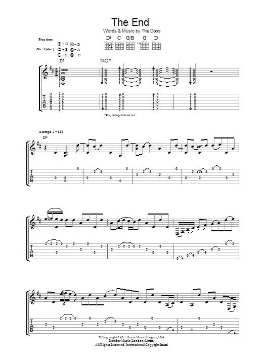 The End (Guitar Tab)