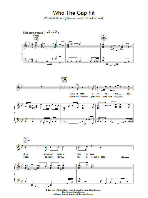 Who The Cap Fit Sheet Music