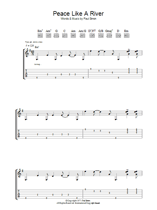 Peace Like A River (Guitar Tab)