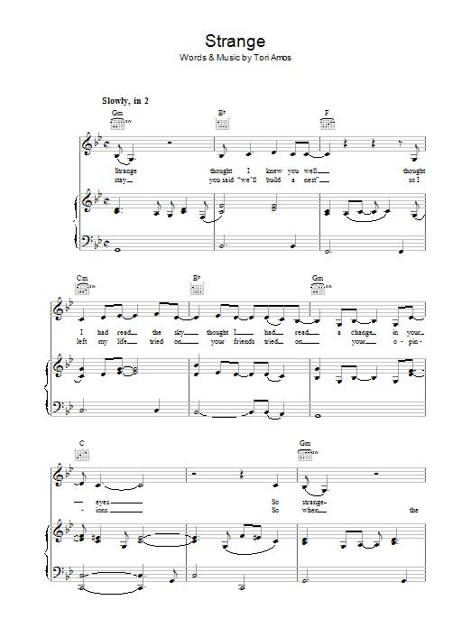 Strange (Piano, Vocal & Guitar)