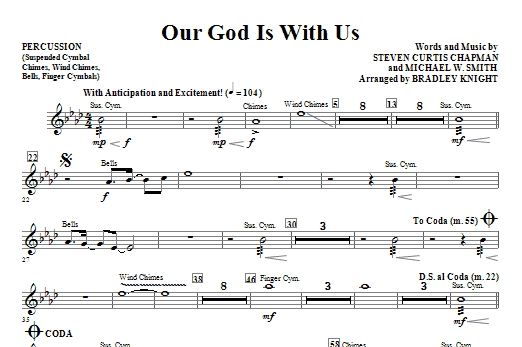 Our God Is With Us - Percussion Sheet Music