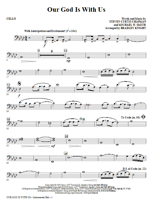 Our God Is With Us - Cello (Choir Instrumental Pak)