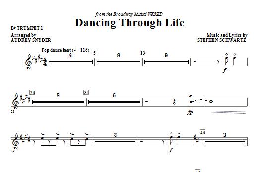 Dancing Through Life - Bb Trumpet 1 Sheet Music