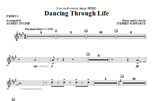 Dancing Through Life - F Horn 1 Sheet Music