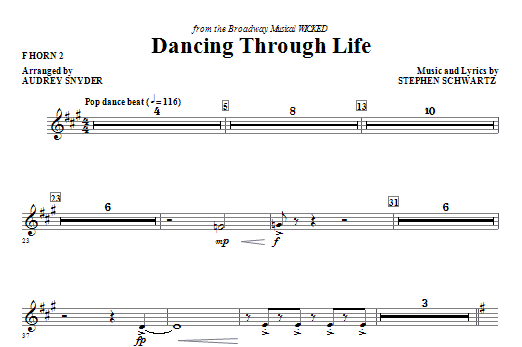 Dancing Through Life - F Horn 2 Sheet Music