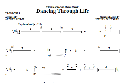 Dancing Through Life - Trombone 1 (Choir Instrumental Pak)