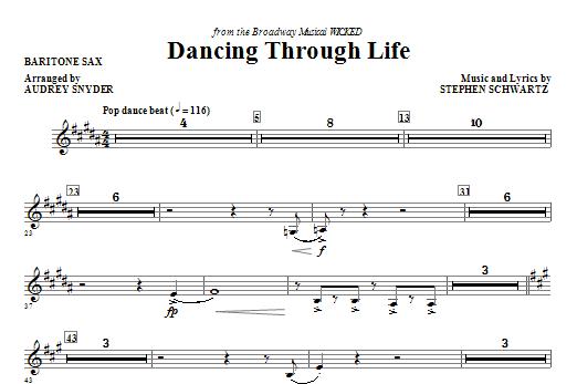 Dancing Through Life - Baritone Sax Sheet Music