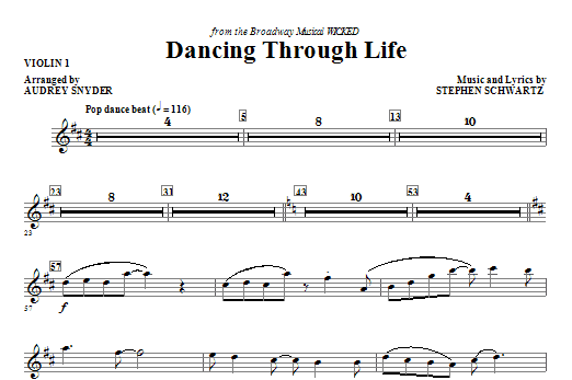 Dancing Through Life - Violin 1 Sheet Music