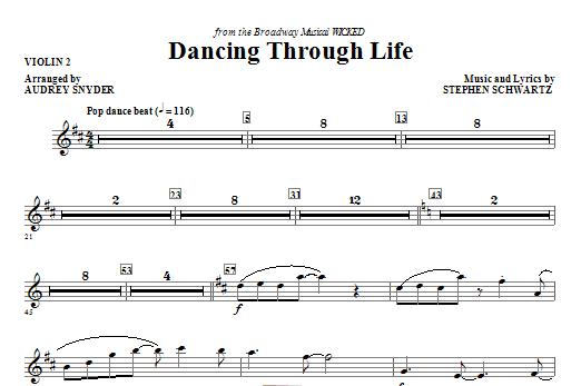Dancing Through Life - Violin 2 Sheet Music