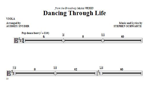 Dancing Through Life - Viola Sheet Music