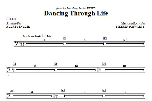 Dancing Through Life - Cello (Choir Instrumental Pak)
