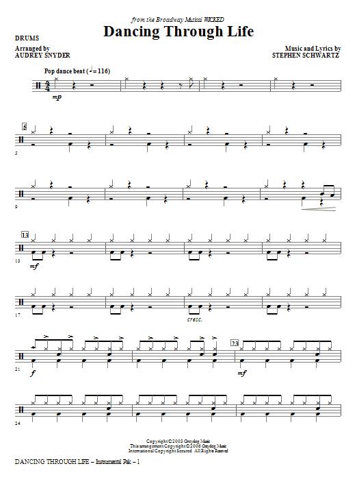 Dancing Through Life - Drums (Choir Instrumental Pak)