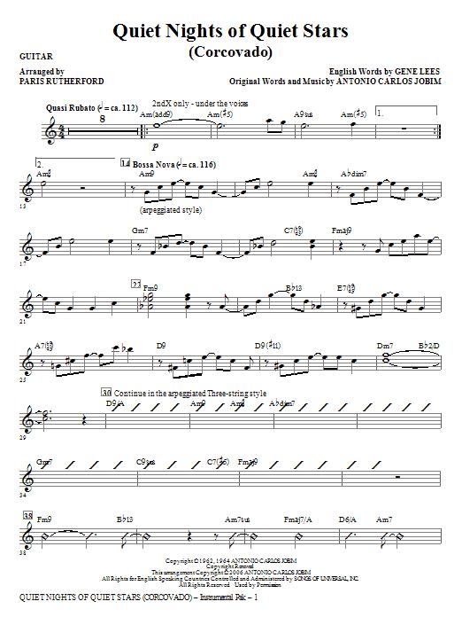 Quiet Nights of Quiet Stars (Corcovado) - Guitar Sheet Music