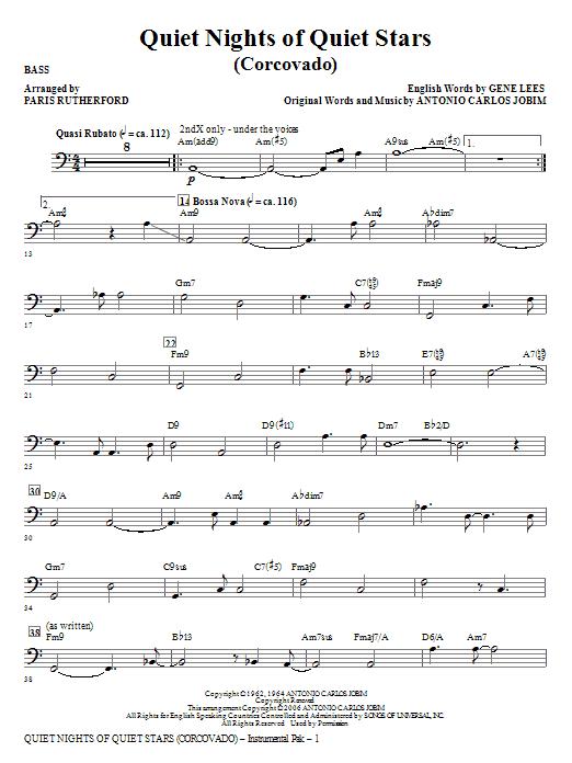 Quiet Nights of Quiet Stars (Corcovado) - Bass (Choir Instrumental Pak)