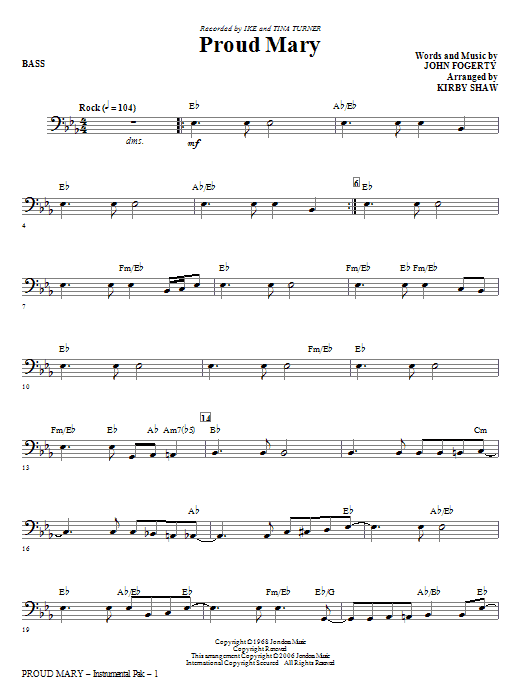 Proud Mary - Bass Sheet Music