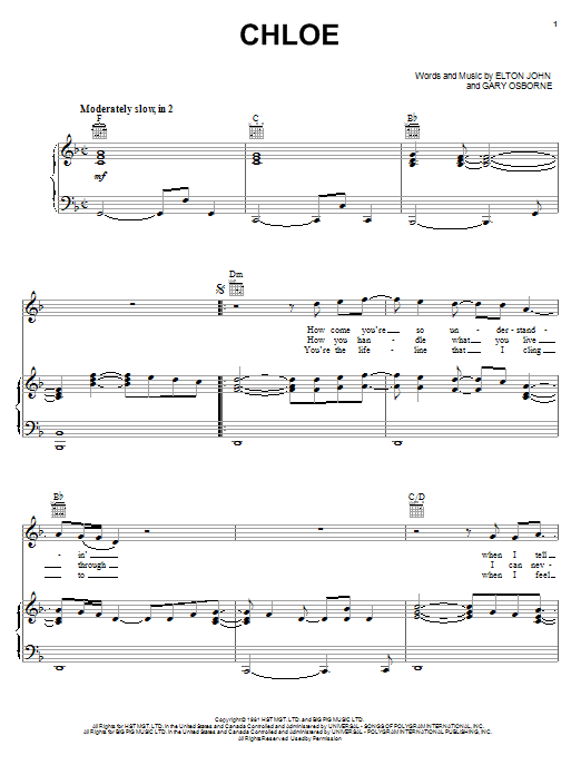 Chloe Sheet Music
