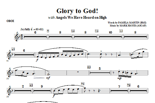 Glory to God! - Oboe Sheet Music