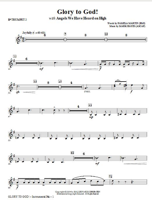 Glory to God! - Bb Trumpet 2 (Choir Instrumental Pak)