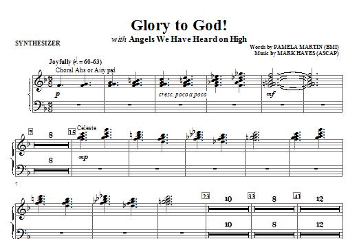 Glory to God! - Synthesizer Sheet Music