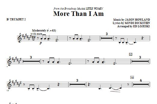More Than I Am - Bb Trumpet 2 Sheet Music