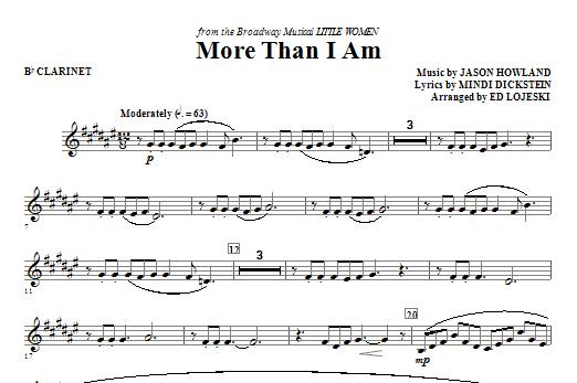 More Than I Am - Bb Clarinet Sheet Music