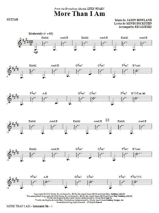 More Than I Am - Guitar Sheet Music