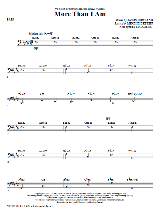 More Than I Am - Bass (Choir Instrumental Pak)
