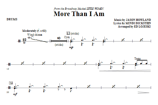 More Than I Am - Drums Sheet Music