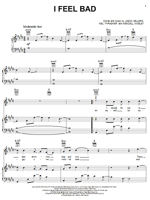 I Feel Bad Sheet Music