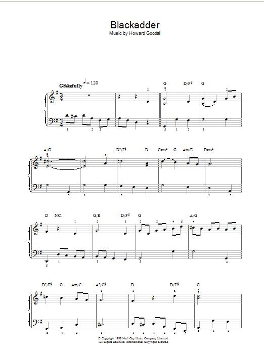Theme from Blackadder (Piano, Vocal & Guitar)