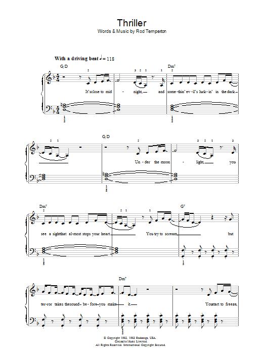 Thriller Sheet Music