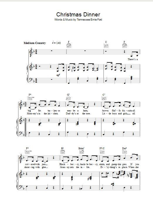 Christmas Dinner (Piano, Vocal & Guitar)