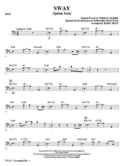 Sway (Quien Sera) - Bass (Choir Instrumental Pak)