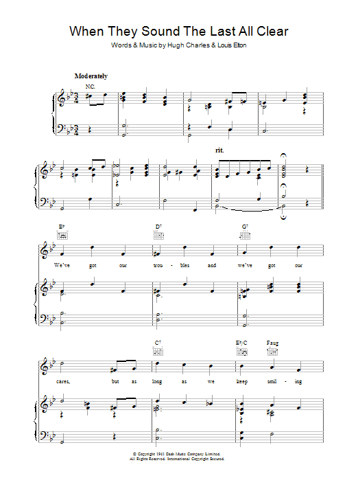 When They Sound The Last All Clear Sheet Music