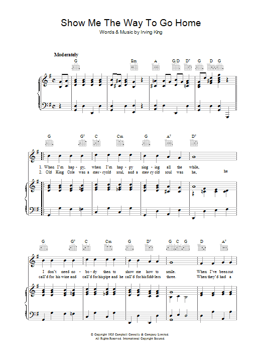 Show Me The Way To Go Home Sheet Music