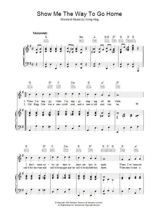 Show Me The Way To Go Home (Piano, Vocal & Guitar)