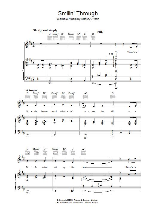Smilin' Through Sheet Music