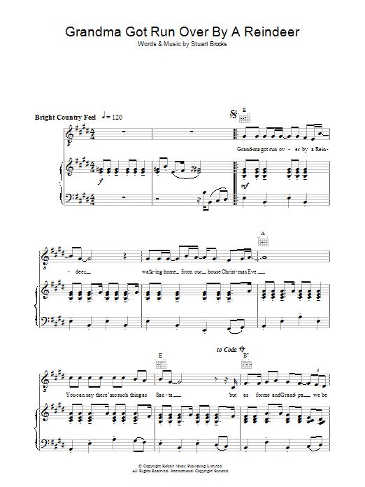 Grandma Got Run Over By A Reindeer (Piano, Vocal & Guitar)