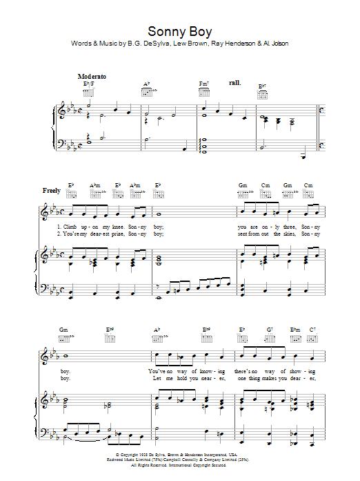 Sonny Boy (Piano, Vocal & Guitar)