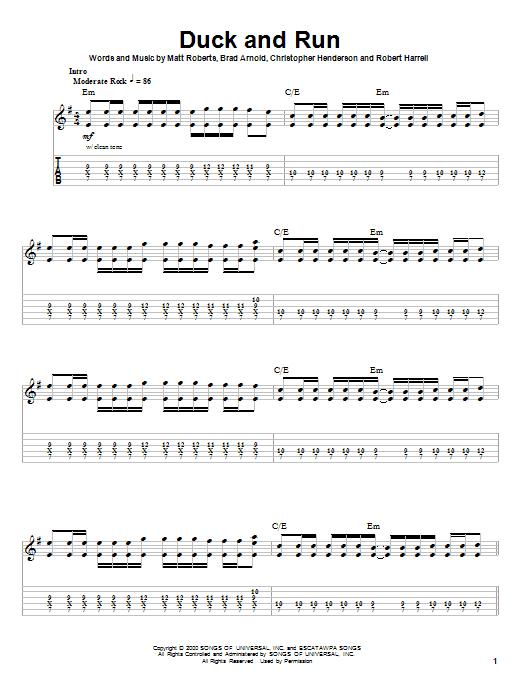Duck And Run Sheet Music