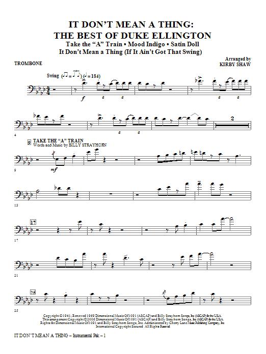 It Don't Mean A Thing: The Best Of Duke Ellington (Medley) - Trombone Sheet Music