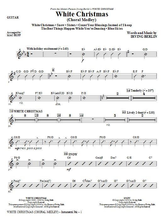 White Christmas (Choral Medley) - Guitar Sheet Music