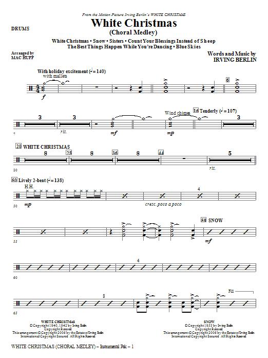 White Christmas (Choral Medley) - Drums (Choir Instrumental Pak)
