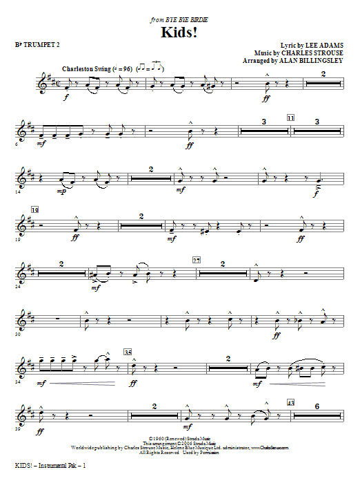 Kids! - Bb Trumpet 2 (Choir Instrumental Pak)