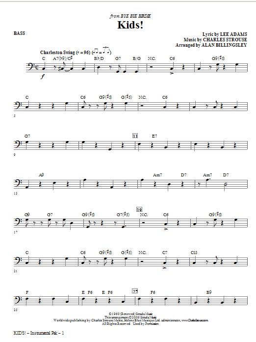 Kids! - Bass (Choir Instrumental Pak)