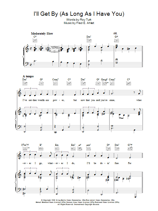 I'll Get By Sheet Music