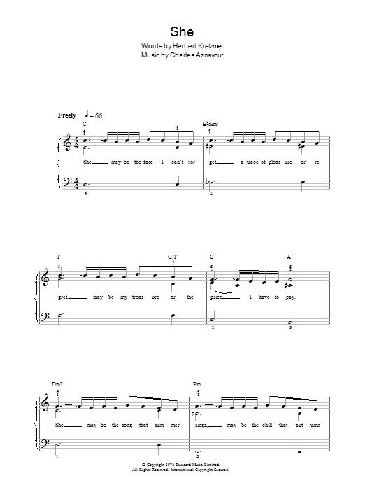She (Piano, Vocal & Guitar)