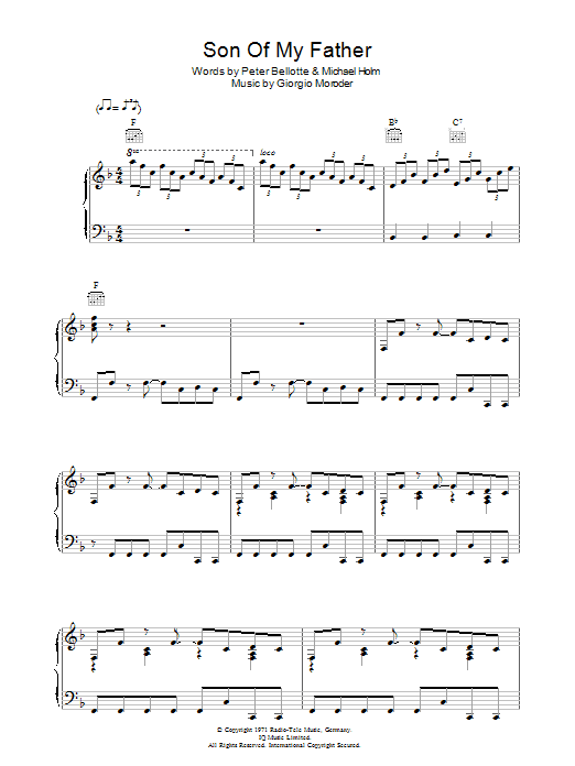 Son Of My Father Sheet Music